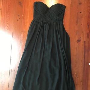 Jenny Yoo Mira Strapless Chiffon Gown